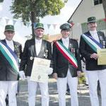 Für langjährige Vorstandstätigkeit wurden Heiner Fahle, Martin Kirsch, Daniel Plöger und Wolfgang Schulte geehrt.