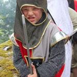 Auch kleine Krieger verteidigten die Stadt mit dem Schwert.