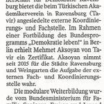 Schwäbische Zeitung 15.11.2016