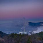Das Saaletal mit Nebel