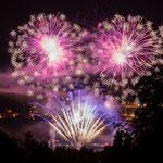Ein Feuerwerk am Schleichersee