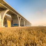Die Autobahnbrücke bei Jena Lobeda