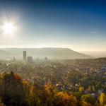 Der Blick auf Jena von den Sonnenbergen aus