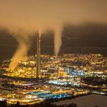 Das Heizkraftwerk der Eon AG in Jena