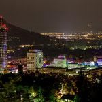 Die Jena Skyline bei Nacht