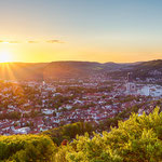 Ein Blick auf Jena vom Bismarckturm aus