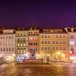 Der abendliche Marktplatz von Jena
