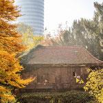 Das Borkenhaus im Botanischen Garten Jena