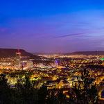Die Skyline von Jena in der Abneddämmerung