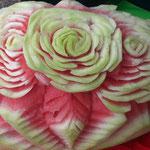 geschnitzte Wassermelone Blumen