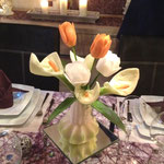 geschnitztes Gemüse Blumen