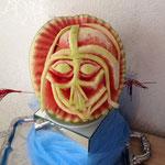 geschnitzte Wassermelone Kopf