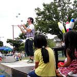 丸亀市イベント風景 ジャグリング