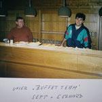 Buffet wurde von Gerhard und Sepp geleitet