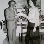 Toni Köckeis mit Bezirksmeisterin Bettina Schmid
