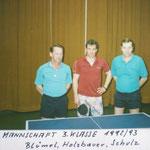 Meisterschaft in Zeiselmauer 1992/93 - Blümel, Holzbauer, Schulz