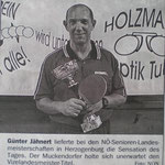 Günter Jähnert holte den Vize-Lds.Meister in Herzogenburg