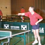 Josef Blümel beim Training