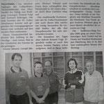 Zeitungsbericht über die Oberliga