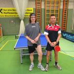 Roland Feigl mit seinem Doppelpartner Michael Müller