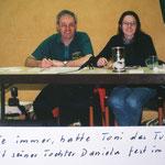 Turnierleiter Toni Köckeis mit seiner Tochter Daniele