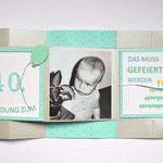 Geburtstagskarte zum 40