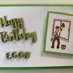 Geburtstagskarte für einen Fensterputzer