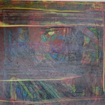 Nr.-S 15: Zwielicht, Acryl, gespachtelt, A 4, Papier