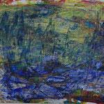 Nr.-S 23: Blaue Stadt, Acryl, gespachtelt, A 5, Papier