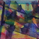 Nr.-S 11: Blaue Flecken, Pastell, A 4, Papier