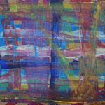 Nr.-S 13: Hinter den Streifen, Acryl, A 4, Papier