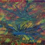 Nr.:S 24: Fliegende Drachen, Acryl, gespachtelt, A 5, Papier