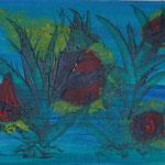 Nr.-S 20: Rote Flecken, Acryl, gespachtelt, A 5