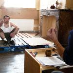 Stratégie pour deux Jambons - Répétition - Mise en scène Remi Beelprez