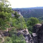 Felsformation im Elbsandsteingebirge