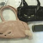 猫のぷーちゃん 合皮の2WAYバッグ シッポ付き