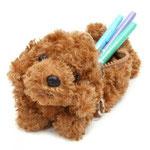 子犬のペンシルケース トイプードル