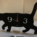 猫のシェードクロック T's Collection 黒ねこ 歩き