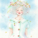 風と花びらと青空と