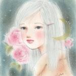 薔薇と三日月