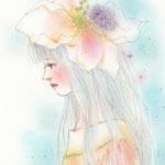 花びらの陰