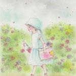 雨色のお花