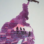 Canadair1 2012, Öl, Acryl und Lack