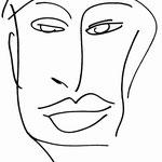 KunstBEGEGNUNG | Uncoloured Face | Zeichnung Kopie | 2008 | A3