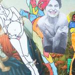 KunstBEGEGNUNG | Bearbeitete Maria | Detail | Collage | 2018 | 55x120