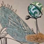 MEINE WELT-RAUM | Wandzeichnung, Objekt WOLKE | Transform-Arte 2017