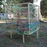 KUNSTpoint(e) - entWICKLEverSTRICKt | Prechody 2018, Gmünd | das Netz wird dichter ... | Foto: Tatjana Zinner