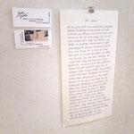 360° STILLE | Text handgeschrieben, Kuli auf Papier | (c) manutober