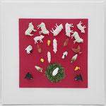 KunstBEGEGNUNG | Verwirrung | 2019 | Spielzeug Papier Leinwand | 30x30