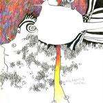 DER KREATIVE KANAL | Tusche, Buntstift auf Papier | 2012 | 20,8 x 27,8 cm